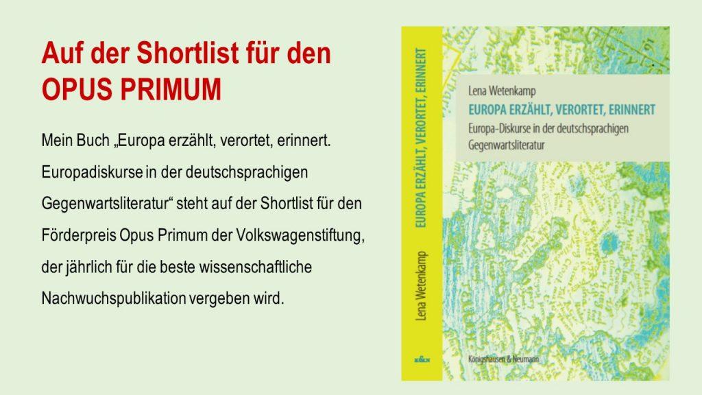 Die Shortlist Der 10 Besten Nachwuchspublikationen Finden Sie Auf Der Seite  Der Volkswagenstiftung